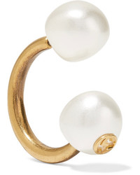 Gucci Gold Plated Faux Pearl Earring