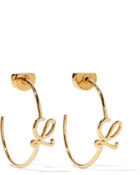 Loewe Gold Plated Hoop Earrings