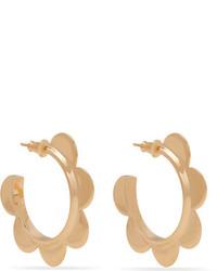 Simone Rocha Gold Plated Hoop Earrings