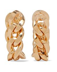 Bottega Veneta Gold Plated Hoop Earrings