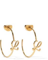 Loewe Gold Plated Hoop Earrings One Size