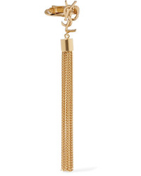 Saint Laurent Gold Plated Tassel Clip Earring One Size