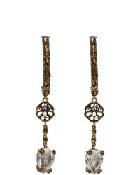 Alexander McQueen Gold Signature Pierced Earrings
