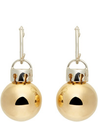 Balenciaga Gold Silver December Ball Earrings