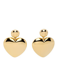 Balenciaga Gold Susi Heart Earrings