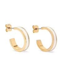 Isabel Marant Gold Tone And Enamel Hoop Earrings