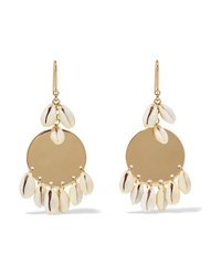 Isabel Marant Gold Tone And Shell Earrings