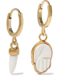 Isabel Marant Gold Tone Bone Hoop Earrings
