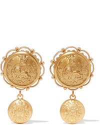 Dolce & Gabbana Gold Tone Clip Earrings
