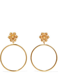 Dolce & Gabbana Gold Tone Clip Earrings One Size