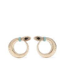 Etro Gold Tone Crystal Clip Earrings