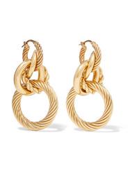 Bottega Veneta Gold Tone Earrings