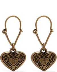 Etro Gold Tone Earrings One Size
