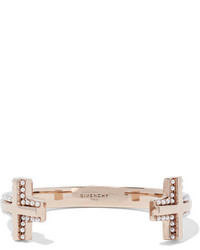 Givenchy Gold Tone Faux Pearl Cuff S