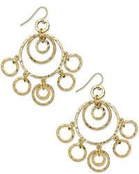 Lauren Ralph Lauren Gold Tone Hammered Ring Chandelier Earrings Web Id 835751