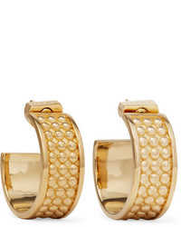 Loewe Gold Tone Hoop Earrings