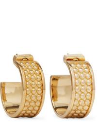 Loewe Gold Tone Hoop Earrings One Size