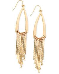 GUESS Gold Tone Multichain Chandelier Earrings