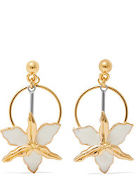 Marni Gold Tone Silver Tone And Enamel Earrings