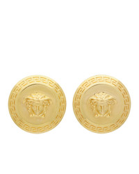 Versace Gold Tribute Coin Earrings