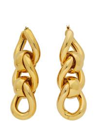 Bottega Veneta Gold Triple Link Earrings