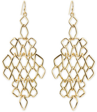 Gold Earrings Alexis Bittar Golden Barbed Articulating Diamond Shaped Drop
