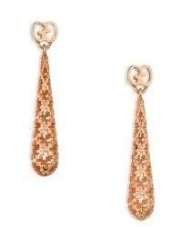 Gucci Diamantissima 18k Rose Gold Teardrop Earrings