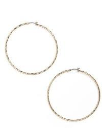 Nordstrom Hammered Hoop Earrings