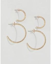 Pieces Hannah Multipack Hoop Earrings