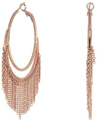 GUESS Hoop Earrings With Chain Fringe Earring