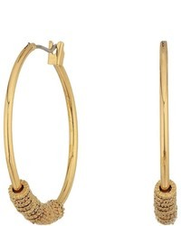 Lauren Ralph Lauren Hoop With Textured Rings Earrings Earring