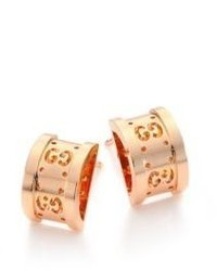 Gucci Icon Twirl 18k Rose Gold Stud Earrings