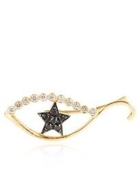 Ileana Makri Diamond Sapphire Yellow Gold Ear Cuff