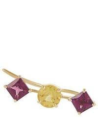 Ileana Makri Sapphire Rodolite Yellow Gold Ear Cuff