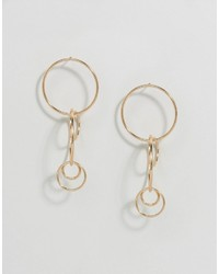 Asos Interlocking Hoop Earrings