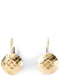Bottega Veneta Intrecciato Detail Earrings