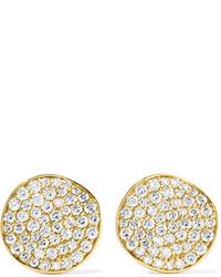 Ippolita Glamazon Stardust Flower 18 Karat Gold Diamond Earrings One Size