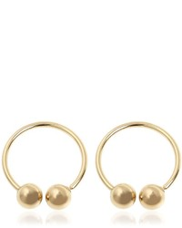 J.W.Anderson Double Ball Plated Brass Earrings