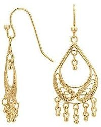 jcpenney Bridge Jewelry Silver Reflections Gold Over Brass Filigree Fringed Teardrop Chandelier Earrings
