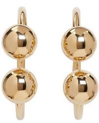J.W.Anderson Jw Anderson Gold Double Ball Hoop Earrings