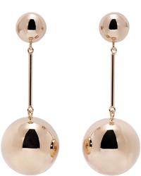 J.W.Anderson Jw Anderson Gold Sphere Drop Earrings