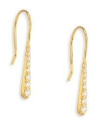 Ila Kadience Diamond 14k Yellow Gold Earrings