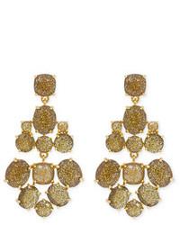 Kate Spade New York Accessories Gold Glitter Chandelier Earrings