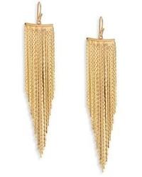 Kenneth Jay Lane Fringe Wire Drop Earrings