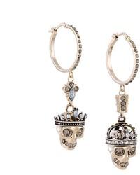 Alexander McQueen King And Queen Hoop Earrings