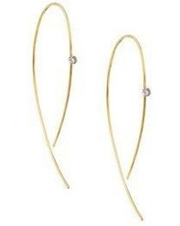 Lana Jewelry Hooked On Hoop Diamond 14k Yellow Gold Earrings1