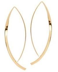 Lana Jewelry Nude Small Twist Arch 14k Yellow Gold Hoop Earrings