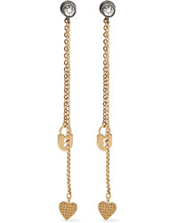 Lanvin Gold Plated Swarovski Crystal Earrings One Size