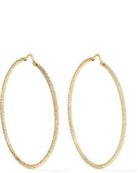 Carolina Bucci Large 18 Karat Gold Hoop Earrings