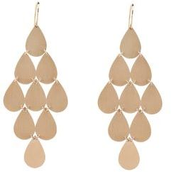 Irene Neuwirth Large Teardrop Chandelier Earrings Rose Gold
